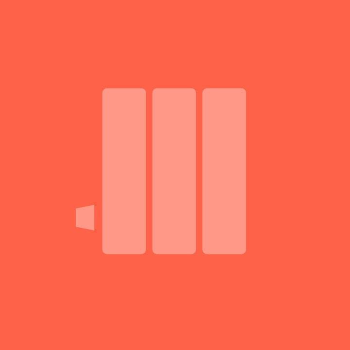 Kartell Kolumn | Horizontal 2 Column Towel Radiator
