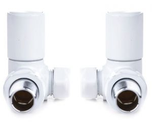 Reina Crova Manual White Corner Valve Set