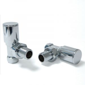 Milan Angled Manual Valve Set - Chrome
