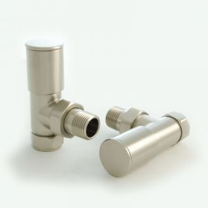 Milan Angled Manual Valve Set - Brushed Satin Nickel