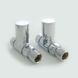 Milan Straight Manual Valve Set - Chrome