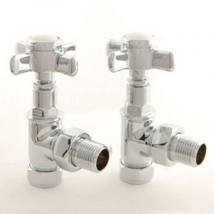 Westminster Angled Manual Valve Set - Chrome