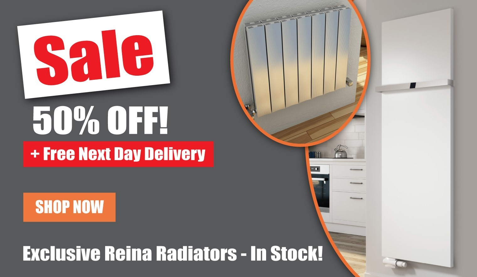 Radiator Sale. 50% Off With Free Next Day Delivery